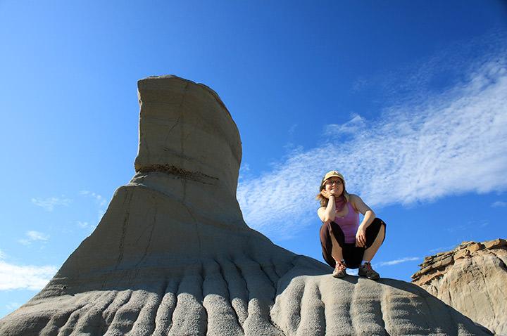 Formation géologique au Dinosaur Provincial Park, en Alberta