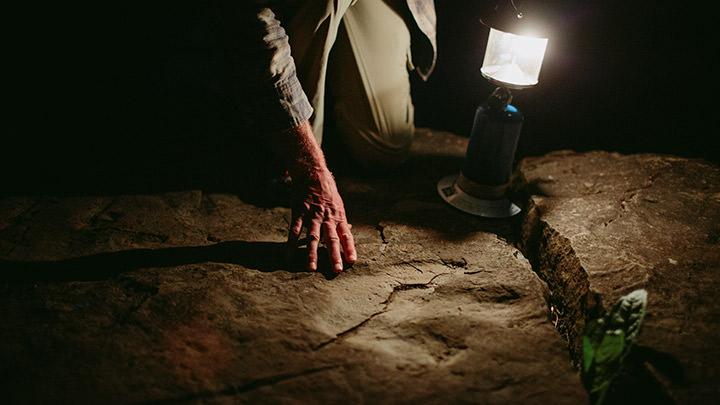 Wolverine Dinosaur Footprint Site, on the Wolverine River, Tumbler Ridge UNESCO Global Geopark